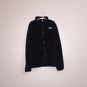 The North Face zip up fluffy comfortable sweater!